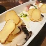 とろさば料理専門店 SABAR - いぶりがっこととろさば薫製のクリームチーズ