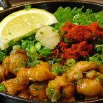 元祖もつ鍋 博多屋 - 料理写真:もつのにわか焼き  もつ鍋に並ぶ当店自慢のオリジナルメニュー