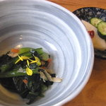 飯屋こふく - 小鉢とお漬け物