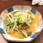 黒百合 - 煮込み、味噌と葱の両掛け #BCMKR!