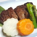 魚信旅館 - ⑥世羅牛のステーキ