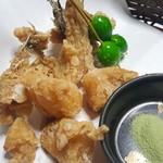 魚信旅館 - ⑦虎魚の唐揚げ