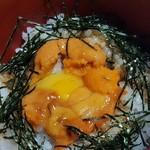 魚信旅館 - ⑨雲丹ご飯