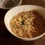 溺れる肴 - アンチョビクリームソーススパゲッティ