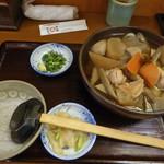 手打麺THE・うどん 大 - 地鶏田舎うどん(1058円)_2018-01-10