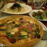 ミラノ・サローネ - パルマ産生ハムと野菜のピッツァ