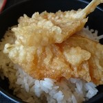 花がき - 好きな天ぷらを天つゆにジャブジャブ潜らせ、ごはんにDON!