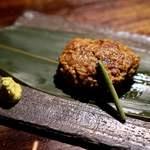 まる良炭火焼肉 - 松坂牛 黄金ハンバーグ 680円