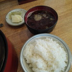 勝蔵 - ご飯と味噌汁