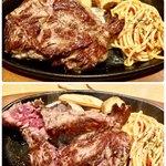 ステーキ宮 - 料理写真:ランチてっぱんセット240g(ライスorパン、スープバイキング付) ランチ16時までOK♫
