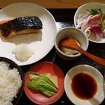 Sakanashokudoukiteretsu - 黒ムツ香味焼と刺身定食(18-01)
