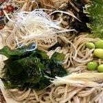 味奈登庵 - 海流の渦を蕎麦で表現しています