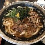肉うどんの丸十 - 黒毛和牛の肉うどん@600円
