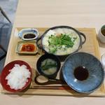 79575960 - 西京味噌を使った白ごま豆乳鍋 2色タレ(1,080円)