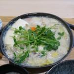 79575964 - 西京味噌を使った白ごま豆乳鍋 2色タレ(1,080円)