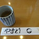 蕎麦処 やまとう - そば茶が美味しかったです。