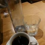 ElTragón - ランチセットのコーヒー(紅茶も有り、アイスかホット選べます)