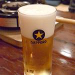 どぜう飯田屋 - 生ビール(620円)