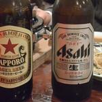 どぜう飯田屋 - ビール(各800円)