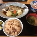 レストラン美浜 - 地魚日替り定食、ミニたこめし