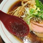 生姜醤油専門 我武者羅 - 生姜醤油スープ