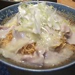 九州炉端 弁慶 - 【〆もの】野菜たっぷりの白湯スープを使った九州風皿うどん(2018.01.17)