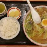 多賀屋食堂 - 料理写真:チャンポン(大)&ごはん