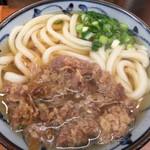 いぶきうどん - 肉かけうどん¥580