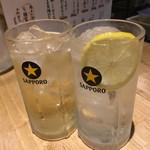 伏見立呑 おお島 - ハイボール&レモンシロップチューハイ