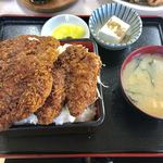 小鳥食堂 - ソースカツ重(大盛)一式【料理】