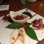 79603900 - 日本酒のためのおつまみ、鯖のへしこが最高!