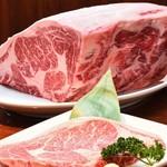 炭火焼肉 遊山亭 - 料理写真:十勝和牛厚切りリブロースステーキ