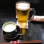 寿し処 喰道楽 - お通し/自家製豆腐