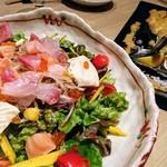 79607747 - 海鮮サラダ(黄身酢ドレッシング)