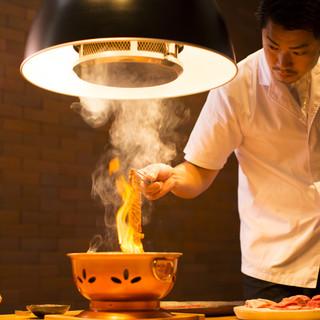 プロの焼師がいます。