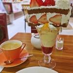 ミオール - ケーキパフェドリンクセット(ホットコーヒー)