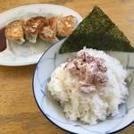 月の家 - マヨチャーシューご飯&餃子