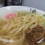 中華そば馥 - 国産小麦「春よ恋」使用のモチモチ平打ち麺。
