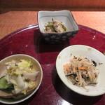 あきよし - 煮物・和え物・香の物の三品