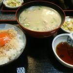 京のつくね家 - 鶏スープと玉子かけご飯