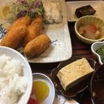 びんび - カキフライ定食(税込850円)(2018.01現在)