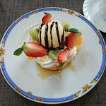 ビストロ ラ・ナチュール - 厚焼きパンケーキ 500円