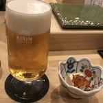 いさみ - 生ビールと湯葉イクラ