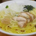 富白 - 鶏塩(大)、半熟味玉子