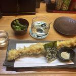 空麦 - 作(日本酒)+とり天