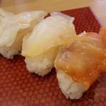 79635716 - 貝三昧  350円                       ⑥つぶ貝                       ⑦石垣貝                       ⑧赤貝