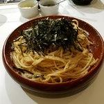 HIDE - タラコとツナのスパゲッティ大盛全景