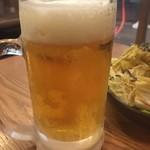 神鶏 - キンキンに冷えた生ビール