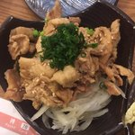 神鶏 - 鶏皮ポン酢