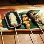 串焼 くる味 - 「串焼き(その1)」見た目も楽しく、お味も抜群♪